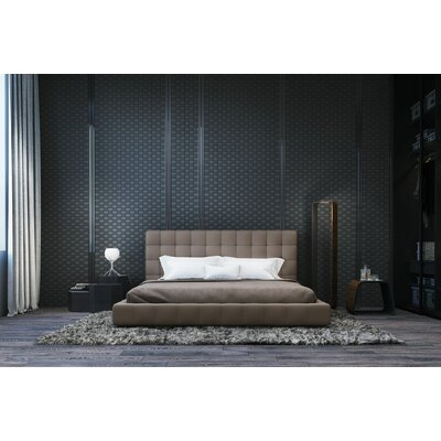 Thompson Upholstered Platform Bed Color: Castle Gray, Size: California King