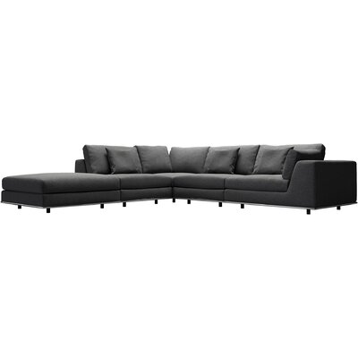 Perry Sectional Upholstery: Shadow Gray, Orientation: Right Hand Facing