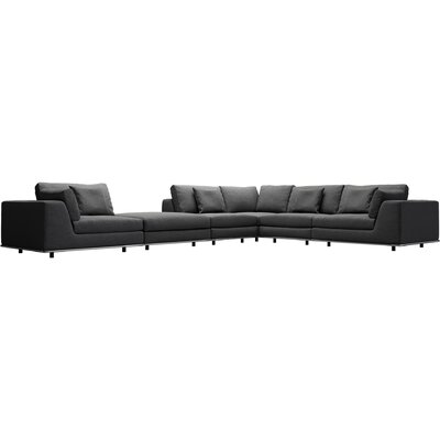 Perry Sectional with Ottoman Upholstery: Shadow Gray