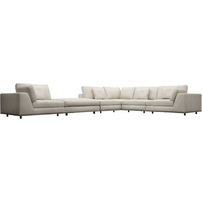 Perry Sectional with Ottoman Upholstery: Moonbeam