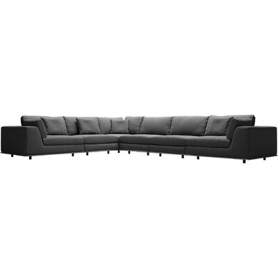 Perry Sectional Upholstery: Shadow Gray