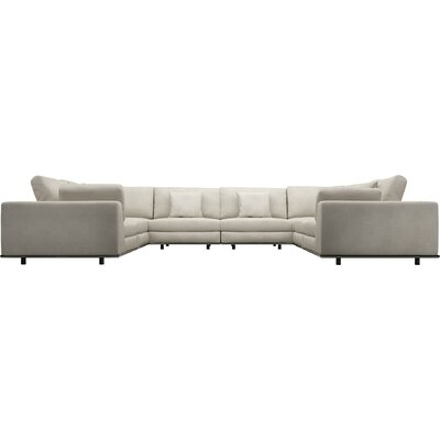 Perry U Sectional Upholstery: Moonbeam
