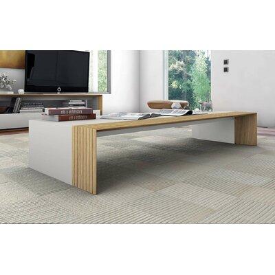 Beckenham Coffee Table Color: Beige Lacquer / Natural Oak