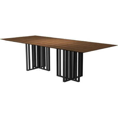Spitalfields Dining Table Finish: Walnut / Graphite, Size: 30 H  x 45 W x 87 L