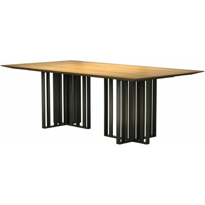 Spitalfields Dining Table Finish: Natural Oak / Bronze, Size: 30 H  x 45 W x 87 L