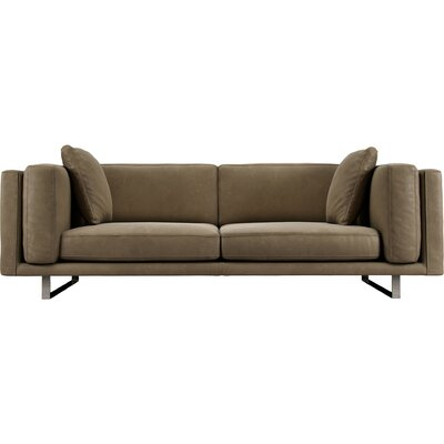Fulton Top Grain Leather Sofa Upholstery: Sand