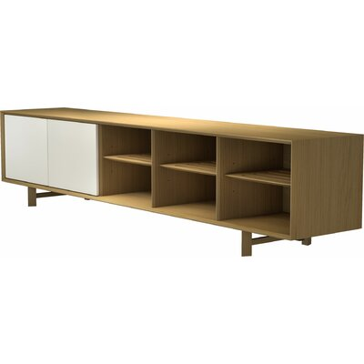 Chiswick 95 TV Stand Color: Natural Oak / Beige Lacquer