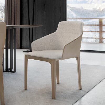 Oxford Dining Chair Finish: Raw Linen / Dark Beige