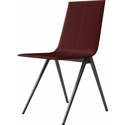 Mayfair Side Chair Upholstery: Red Reclaimed Leather