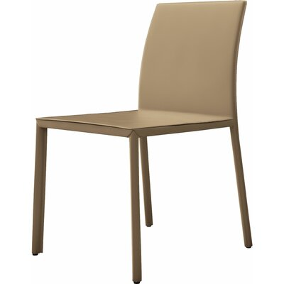 Sanctuary Genuine Leather Upholstered Dining Chair Finish: Black