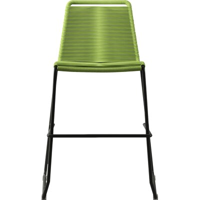 Barclay 26 Patio Bar Stool Color: Green