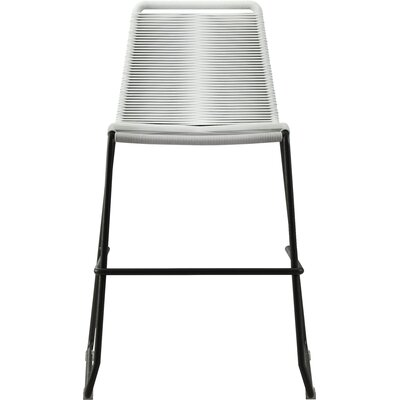 Barclay 26 Patio Bar Stool Color: White