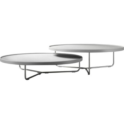 Adelphi 2 Piece Coffee Table Set Top Color: White