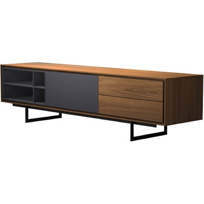 Baxter Media Cabinet 79 TV Stand Color: Walnut