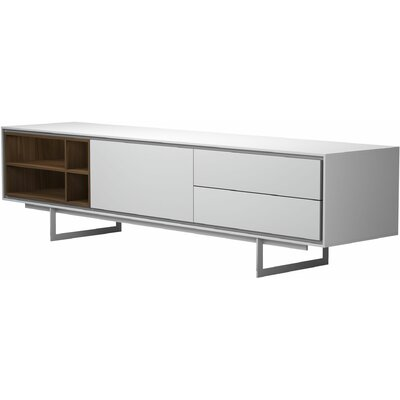 Baxter Media Cabinet 79 TV Stand Color: White Matte