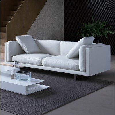 Fulton Top Grain Leather Sofa Upholstery: White