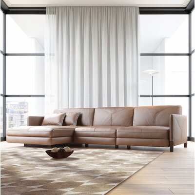 Lafayette Sectional Upholstery: Aged Onyx, Orientation: Left Hand Facing