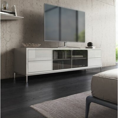 83 TV Stand Color: White Lacquer