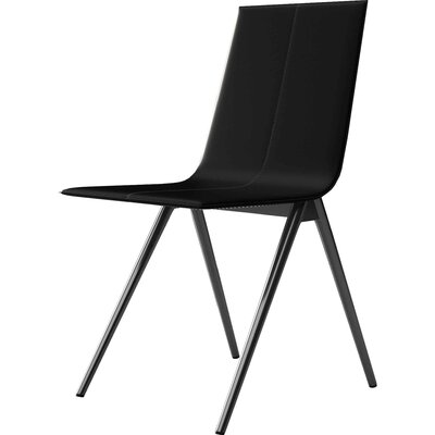 Mayfair Side Chair Upholstery: Black Reclaimed Leather