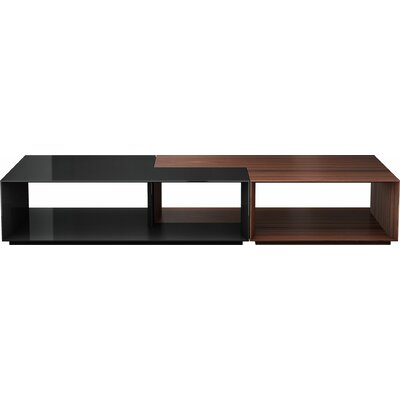 Putney Jigsaw Coffee Table Color: Rosewood and Glossy Black
