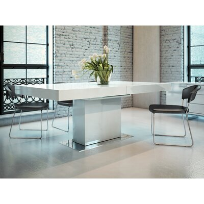 Astor Dining Table Table Finish: White Lacquer