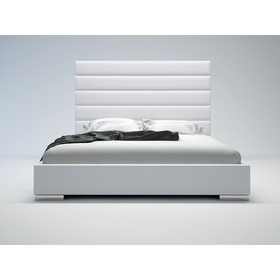 In store financing Prince Platform Bed Finish: White, ...