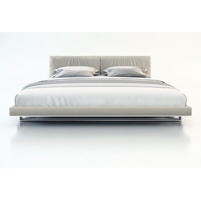 Modloft MD327KGRY LOFT Broome Bed King Dusty Grey Leather
