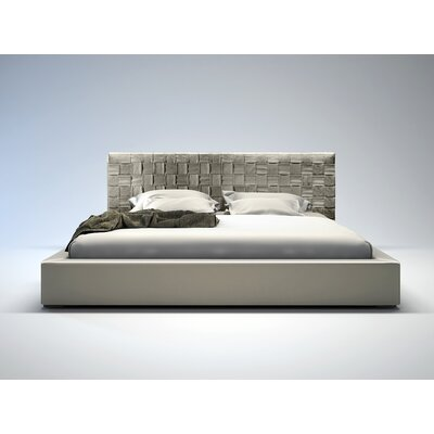 Modloft Madison Bed - King in Dusty Grey Leather