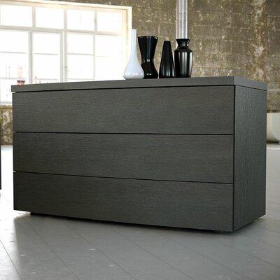 Ludlow 3 Drawer Dresser Color: Wenge