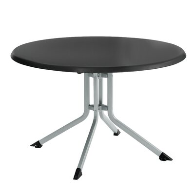 Bistro Table Finish: Black / Silver