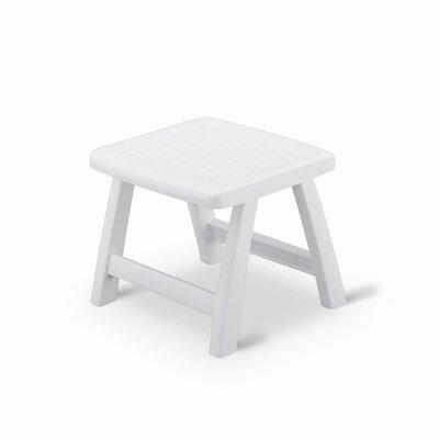 Roma Side Table Ottoman Finish: White