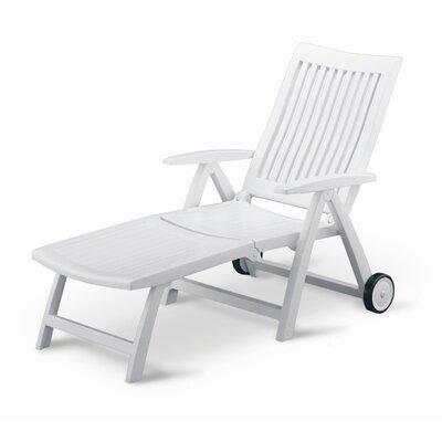 Argo Multi-Position Chaise Lounge Finish: White