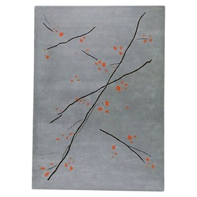 Inari Grey/Orange Area Rug Rug Size: Rectangle 8 x 116