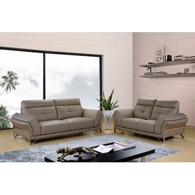 Dela 2 Piece Living Room Set