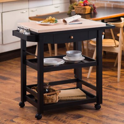 Giulia Kitchen Cart with Wood Top