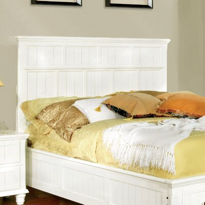Panel Headboard Size: Full/Queen, Upholstery: White
