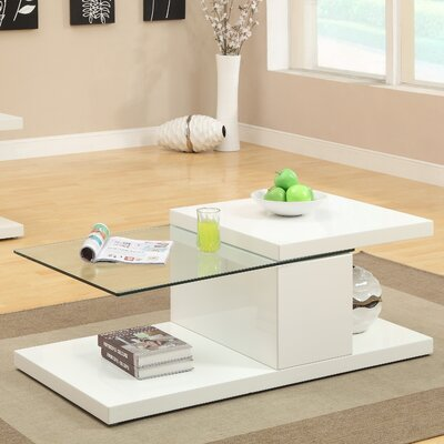 Monda Swivel Coffee Table Finish: White
