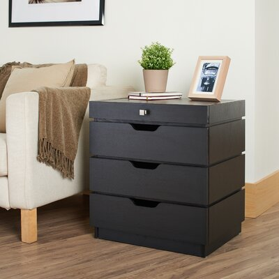 Quatre End Table Color: Black