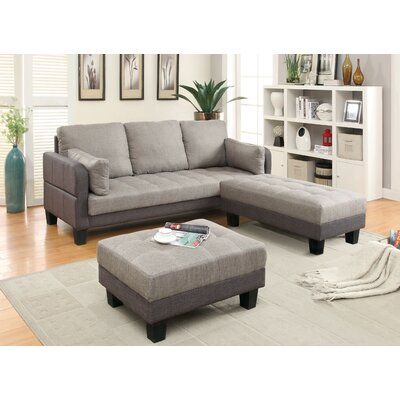 JEG-7378-TFD KUI5297 Hokku Designs Jeffrees Convertible Sofa