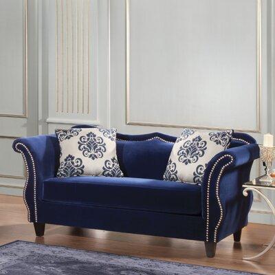 JEG-3342-MW KUI5287 Hokku Designs Emillio Premium Upholstered Loveseat
