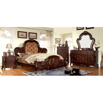 Lancaster Upholstered Platform Bed Size: Queen