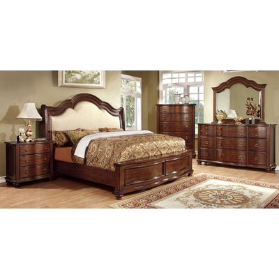 Jamine Upholstered Sleigh Headboard Size: King