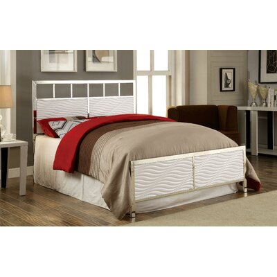 Vinolus Panel Headboard and Footboard Set Size: California King, Color: White