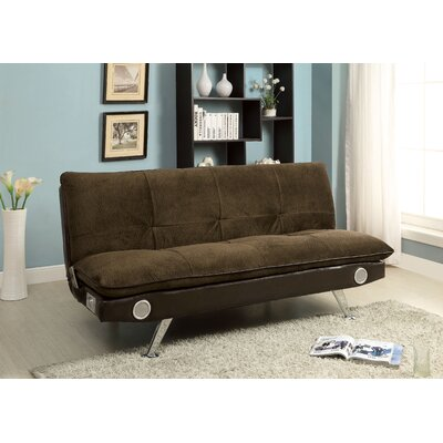 Cremshen Convertible Sofa Upholstery: Dark Brown