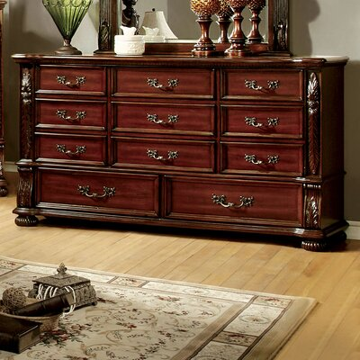 Lannisten 11 Drawer Dresser with Mirror