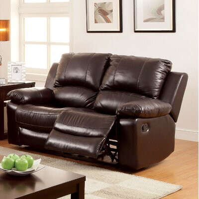 Luria Leather Reclining Loveseat