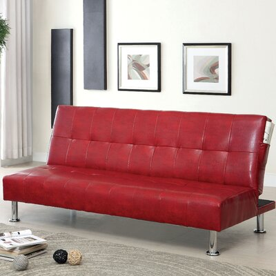 Perz Convertible Sofa Upholstery: Red