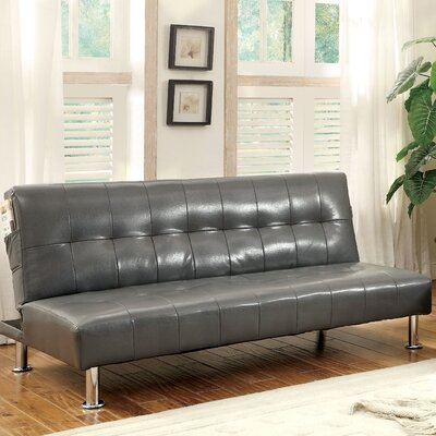 Perz Convertible Sofa Upholstery: Gray