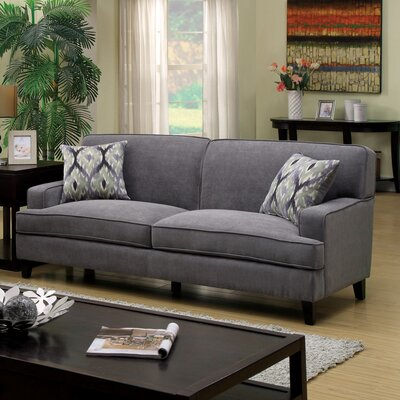 Leyna Modern Standard Sofa Upholstery: Stone Blue