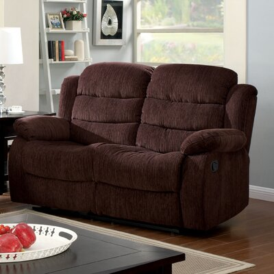 Fergstein Reclining Loveseat Upholstery: Brown